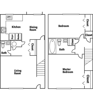Two Bedroom Town Home